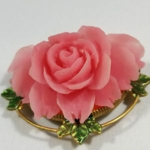 Vintage custom jewelry brooches pin cellulite rose